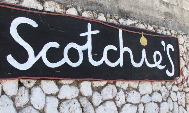 Photos of the outside of Scotchies Restaurant in Jamaica
