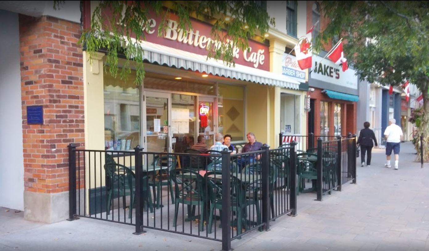 A photograph of the Buttermilk Cafe in Cobourg ON