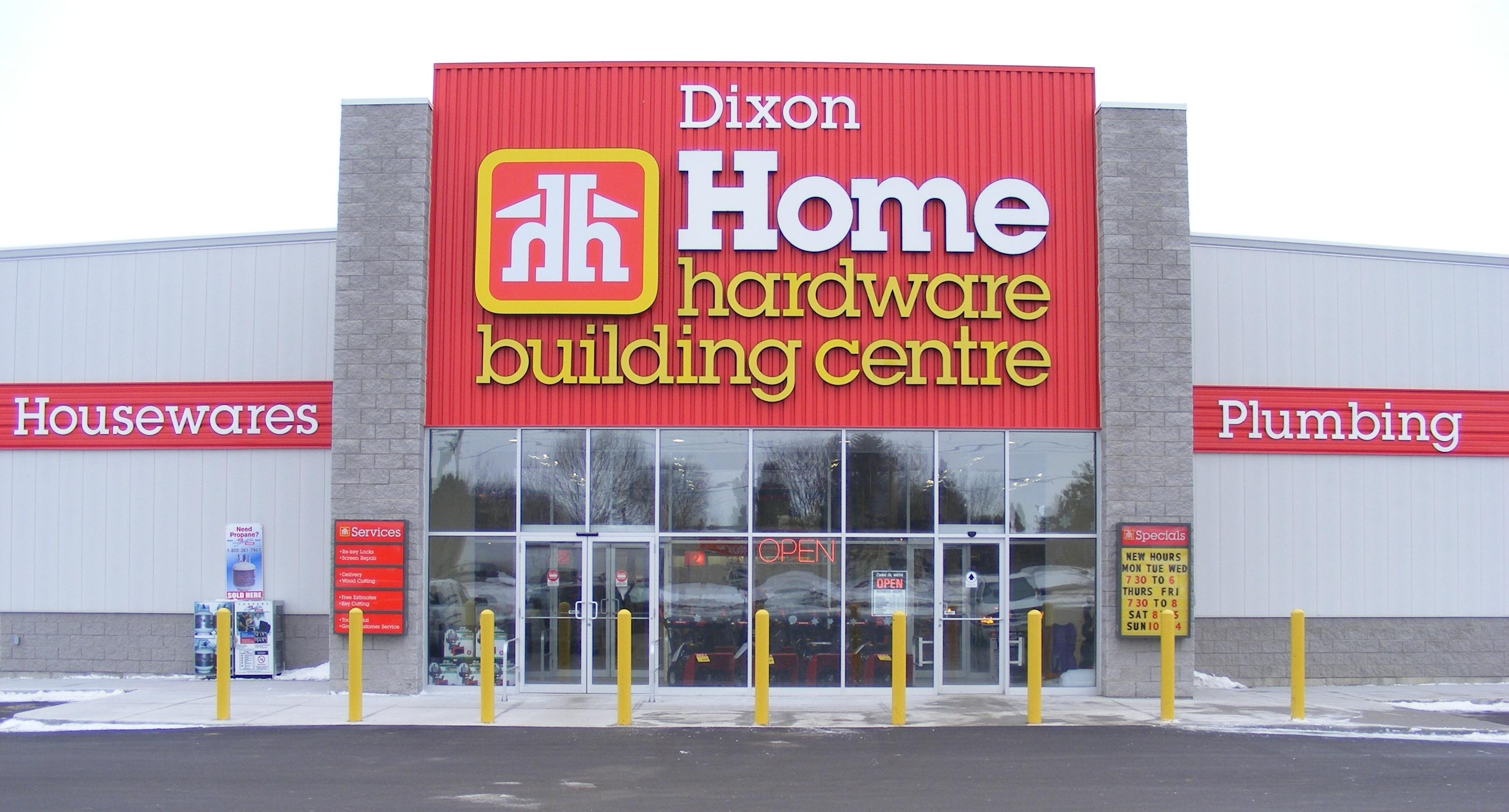 Storefront of Dixon Home Hardware