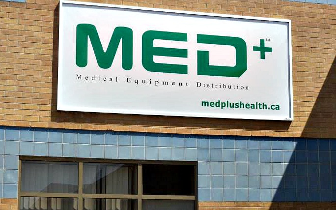 Exterior of Med+ Home Health Care office in Scarborough, ON.