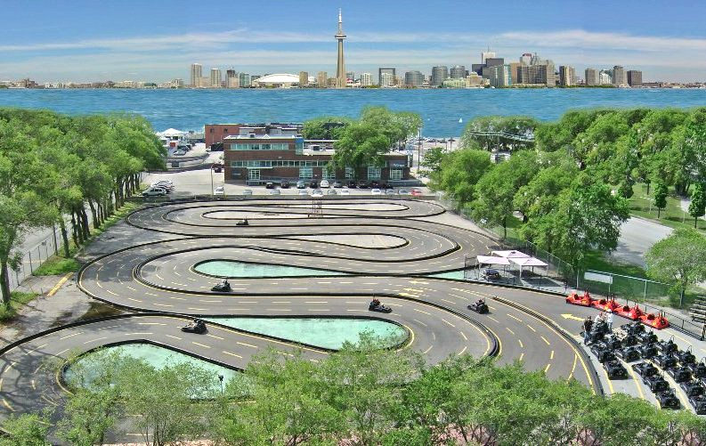 Go-karting track at 'Go-Karts @ Polson Pier.'