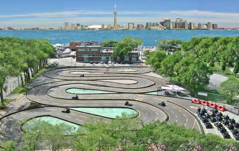 Go-karting track at 'Go-Karts @ Polson Pier.'