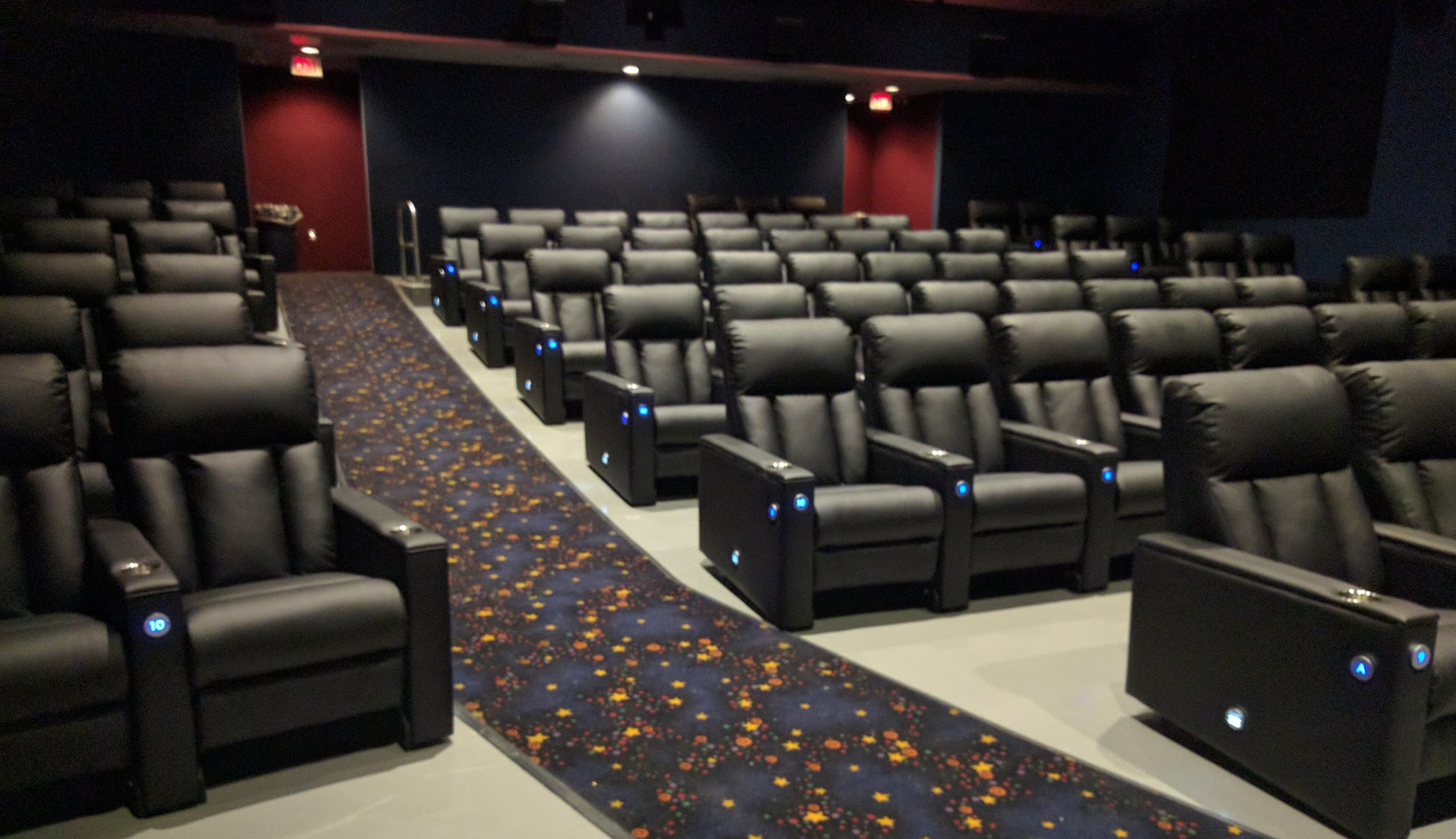 Photo of the interior of an Imagine Cinema
