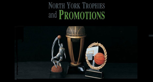 Some Trophies available for purchase from North York Trophies